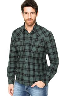 Camisa Redley Bolsos Xadrez Verde/Preto