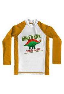 Camiseta De Lycra Comfy Dino Park Amarelo