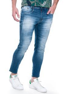 Calça Jeans Dialogo Cropped Azul