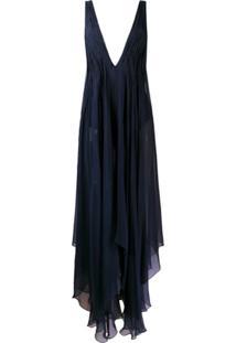 Erika Cavallini Vestido Túnica Sem Mangas - Azul