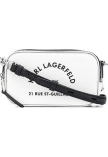 Karl Lagerfeld Bolsa Estruturada Rue St Guillaume - Branco