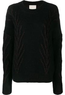 Marco De Vincenzo Glitter Detail Sweater - Preto