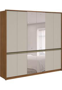 Guarda-Roupa Casal Com Espelho Urban 6 Pt 6 Gv Rovere E Off White