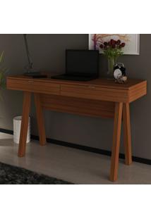 Mesa Escrivaninha 2 Gavetas Amendoa Me4128 - Tecno Mobili