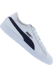 Tênis Puma Smash V2 L - Masculino - Branco/Azul