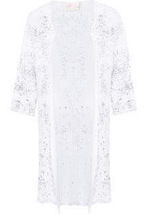 Cardigan Feminino Maxi Tricot - Off White