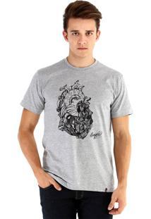 Camiseta Ouroboros Coração De Pedra Cinza