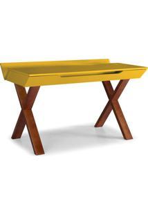Escrivaninha Studio Cor Cacau Com Amarelo - 28939 Sun House