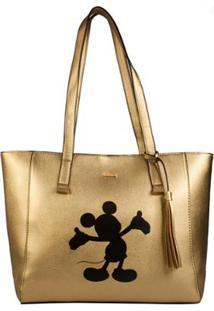 Bolsa Mickey Mouse - Feminino-Dourado