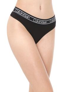 Calcinha Calvin Klein Underwear Fio Dental Flx Preta