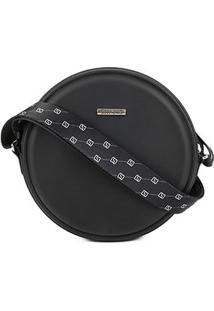 Bolsa Sweetchic Mini Bag Quebek Alça Tecido Feminina - Feminino-Preto