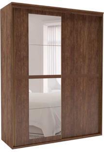Guarda-Roupa Solteiro Sofisticato Com Espelho 2 Pt 3 Gv Marrom