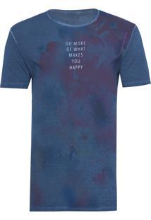 Camiseta Masculina Estampa Manchas - Marinho