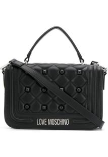 Love Moschino Bolsa Tiracolo Matelassê - Preto