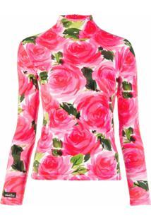 Richard Quinn Blusa Com Estampa Floral - Rosa
