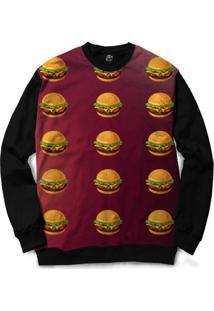 Blusa Bsc Hamburger Full Print - Masculino-Preto