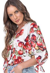 Blusa Lança Perfume Tomates Bege