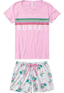 Pijama Curto Estampado Sunset Malwee Liberta