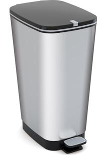 Lixeira 20L Metálica Curver Silver-Keter - Prata