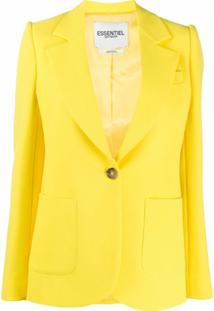 Essentiel Antwerp Blazer De Crepe - Amarelo