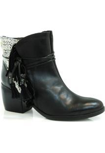 Ankle Boot De Couro Cravo & Canela