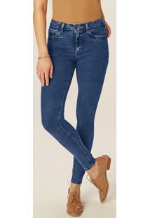Calça Azul Skinny Jeans Flex