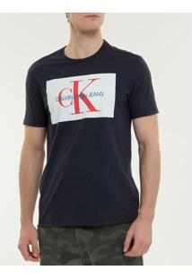 Camiseta Ckj Mc Re Issue - Marinho - Pp
