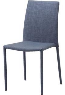 Cadeira Indonesia Estofada Tecido Sintetico Cinza - 30746