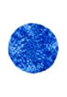 Tapete Saturs Shaggy Pelo Alto Mesclado Azul Redondo 110 Cm Tapete Para Sala E Quarto