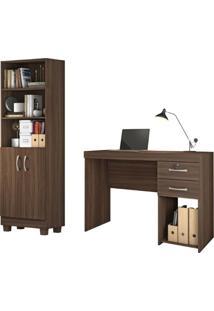 Conjunto Home Office 2 Peças Jcm Movelaria Imbuia