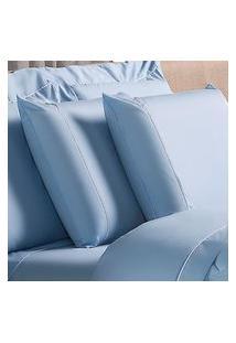 Fronha Avulsa Plumasul Basic Percal 230 Fios 50X90Cm Azul