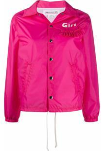 Comme Des Garçons Girl Jaqueta Bomber Com Babados - 3 Pink