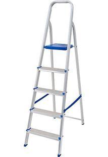 Escada Mor Aluminio 5 Degraus - 005103