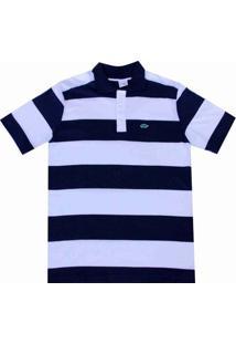 Camisa Pau A Pique Polo - Masculino-Azul Escuro