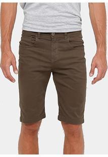 Bermuda Razon Sarja Color Elastano Slim Masculina - Masculino