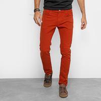 d32400365 Calça Slim Colcci Felipe Sarja Masculina - Masculino-Vermelho Escuro