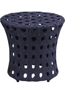 Puff Ceres Estrutura Em Aluminio Revestido Em Fibra Cor Azul Marinho - 44651 - Sun House