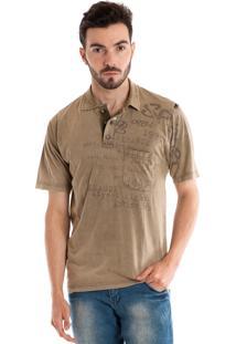 Camisa Polo Konciny Manga Curta Verde Musgo