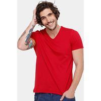 05a1454e1 Camiseta Kohmar Gola V Básica Masculina - Masculino-Vermelho