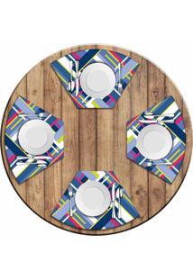 Jogo Americano Love Decor Para Mesa Redonda Wevans Poly Kit Com 4 Pã§S - Multicolorido - Dafiti