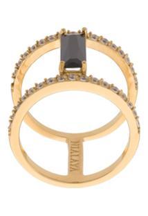 Nialaya Jewelry Anel 'Skyfall Bar' Banhado A Ouro 18K - Metálico
