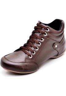 Bota Peccato Sapatos24Horas Top Confort Lisa Café
