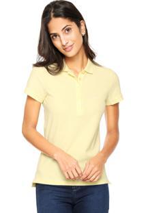 Camisa Pólo Algodao Amarela feminina  67db9fe989d06