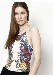 Body Floral - Branco & Preto - Tritontriton