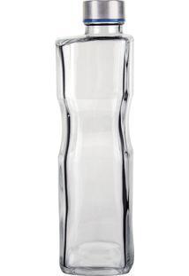 Garrafa De Vidro H2O 1L Quadrada Vdr7269-Euro Home - Transparente