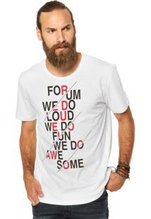 Camiseta Forum Estampa Branca
