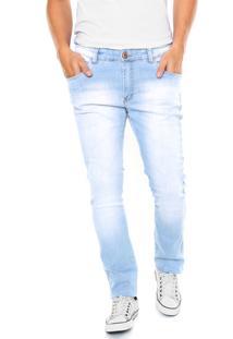 Calça Jeans Malwee Skinny Delavê Azul