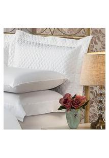 Fronha Para Travesseiro 50X150Cm Matelasse Soft Touch Branca Plumasul
