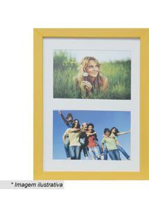 Painel Insta Para 2 Fotos- Amarelo & Branco- 28X21X1Kapos