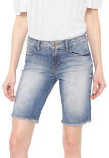 Bermuda Jeans Lez A Lez Reta Estonada Azul